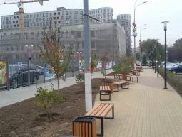 Устройство пешеходной зоны по ул.Щербакова вдоль Ледовой Арены г.Мытищи 2016г.